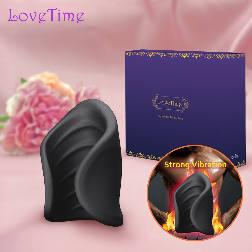 LoveTime Rechargeable Male Masturbator Cup Vibration Silicone Pussy Artificial Vagina Vibrator Delay Exerciser Sex Toys For Men