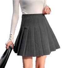 Женская мини юбка sutimine 2021 зимние шерстяные плотные плиссированные