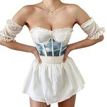 Decoração de cinta feminina, arte retro impresso bouquet de cintura elástico design de banda de verão vestuário