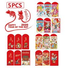 New Year Chinese Red Envelope 2020 Chinese Mouse Rat Year Lucky Money Bag for the Chinese Spring Festival 3 6pcs 2020 new year cartoon mouse rat chinese red envelopes packets pocket bag