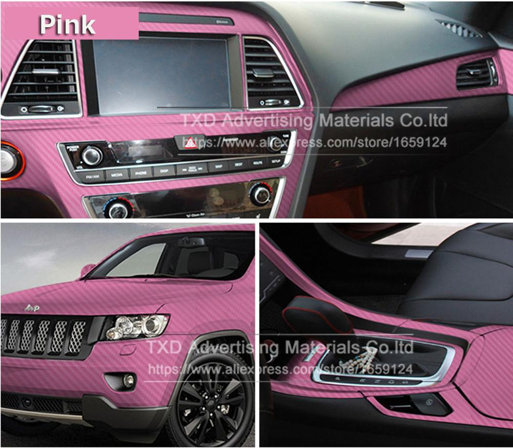 Image 2 - 127CMX30CM Pink Carbon Fiber Vinyl Film Car Sticker Decal DIY 3D Car Styling Decorative roll sticker for Mobile Phone Laptop-in Car Stickers from Automobiles & Motorcycles