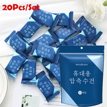 20/50pcs Magic Disposable Compressed Face Towel Nonwoven Candy Travel Outdoor