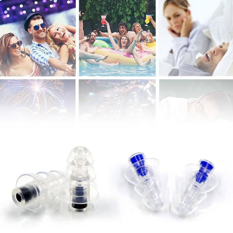 Music Ear Plugs Noise Canceling For Concert DJ Bar Band Musician Hearing Protection Silicone Earplugs