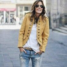 2020 chaqueta de Mujeres de bombardero Vintage moda abrigo de manga larga ropa informal ajustada chaqueta militar abrigo de talla grande ropa de trabajo 5XL