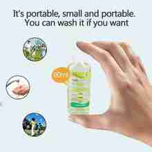 60ml Travel Portable Mini Hand Sanitizer Disposable No Clean Waterless Clear Anti-Bacteria Moisturizing Fruit-Scented Bottle