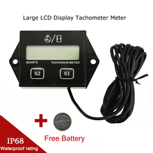 Motorcycle Tachometer Hour Meter Engine Tach Motobike Gauge Marine Chainsaw Pit Bike Boat Engine Inductive LCD Digital Display battery replaceable inductive tach hour meter rpm meter for gas engine dirt bike motorcycle atv boat motocross chainsaw pit mx