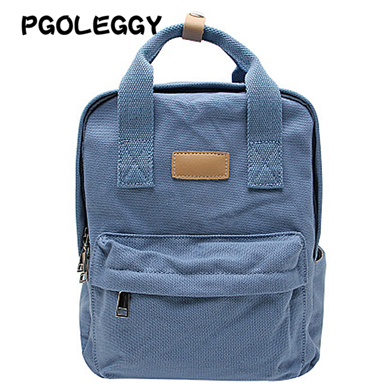 PGOLEGGY 2019 Brand Backpack Canvas Fabric Backpacks Girls Backpack For Laptop School Bags Travel Bag Backpack For Woman