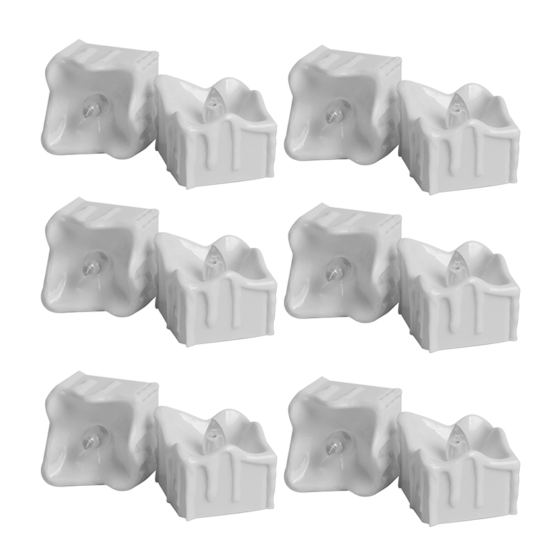 TOP! 12Pcs Led Tea Lights Warm White Cr2032 Battery Operated Flameless Tea Lights Candles Flickering Long Lasting for Party Ta      - title=