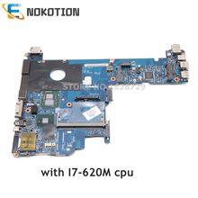 NOKOTION 598765 001 עבור HP Elitebook 2540P האם מחשב נייד KAT10 LA 5251P Mainboard I7 620M מעבד DDR3 מלא מבחן