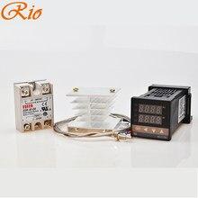 Thermostat numérique REX C100, avec alarme 999 ℃ 100-240V, régulateur de température, thermomètre PID SSR 40DA, relais K, sonde Thermocouple