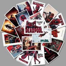 25 шт., водостойкие ПВХ наклейки Deadpool для ноутбука, скейтборда, багажа, стайлинга автомобилей, велосипеда, каракули, наклейки, граффити, наклейка, Декор