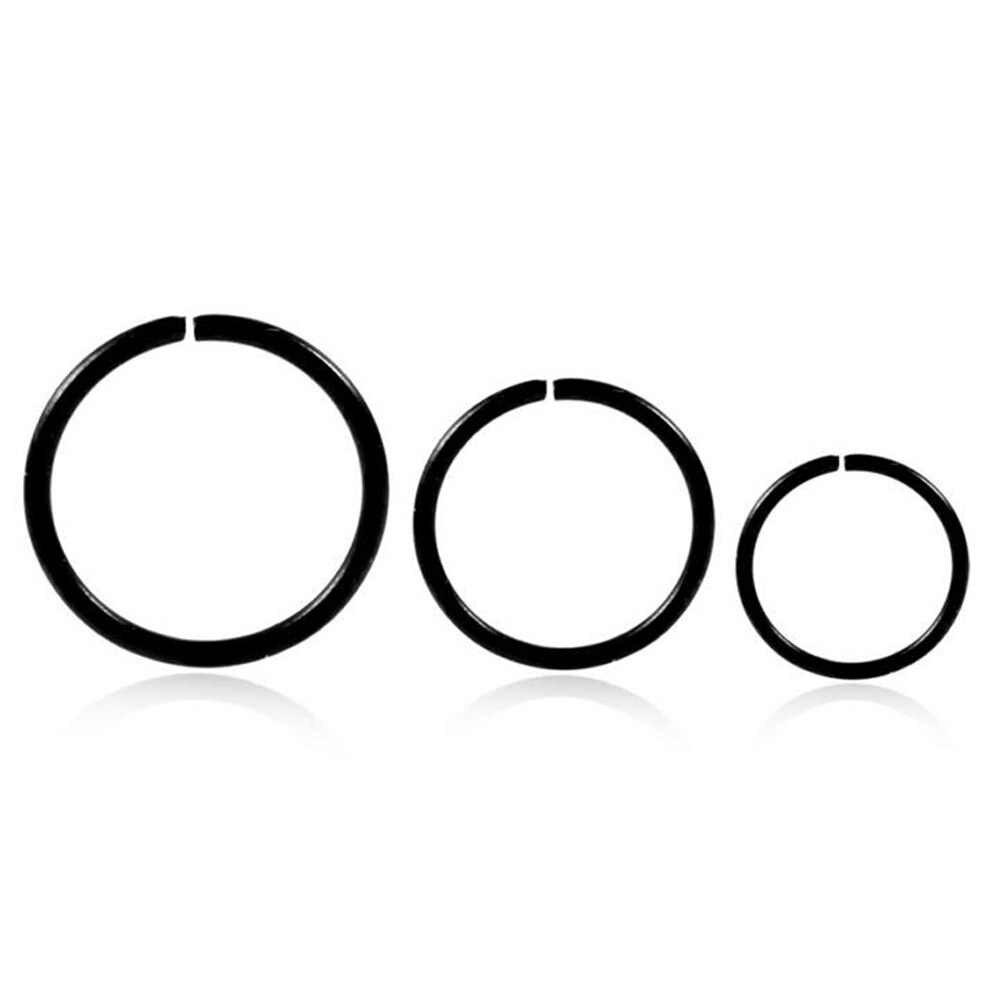 Fake Septum ไทเทเนียมแหวนจมูกสีทองคลิป Hoop สำหรับผู้หญิง Septum เจาะเครื่องประดับของขวัญ 1pc