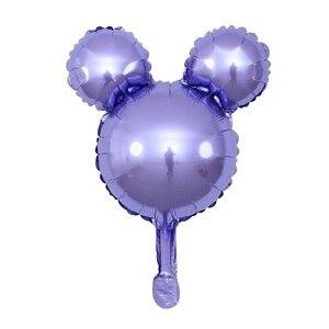Image 4 - GIHOO 5/10pcs Mini Head Aluminum Foil Balloons Childrens Day Toy 30x45cm Cartoon Balloon Child Birthday Party Decoration