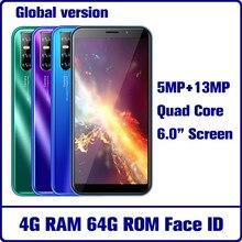 A50s quad core 4g ram 64g rom 5mp + 13mp 6.0