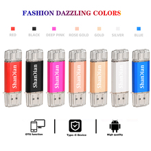 Hotsale SHANDIAN OTG USB Flash Drive Type C Pen Drive 512GB 256GB 128GB 64GB 32GB 16GB USB Stick 3.0 Pendrive for Type C Device