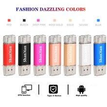 Hotsale SHANDIAN OTG USB Flash Drive di Tipo C Pen Drive 512GB 256GB 128GB 64GB 32GB 16GB USB 3.0 Pendrive per il Tipo C Dispositivo