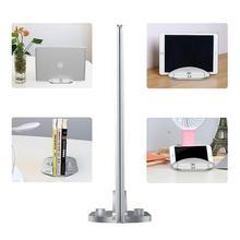 цена на DishyKooker Vertical Stand for MacBook Pro/Air Aluminum Alloy Notebook Holder Adjustable Desktop Space-Saving