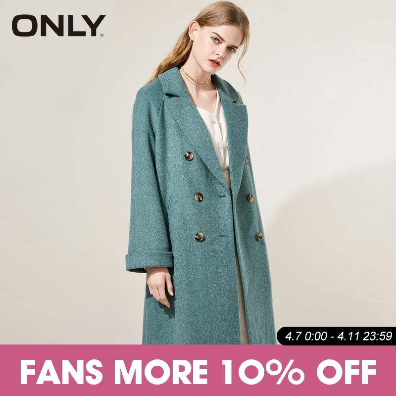ONLY Spring  Double-breasted Wool Long Coat| 11846U505