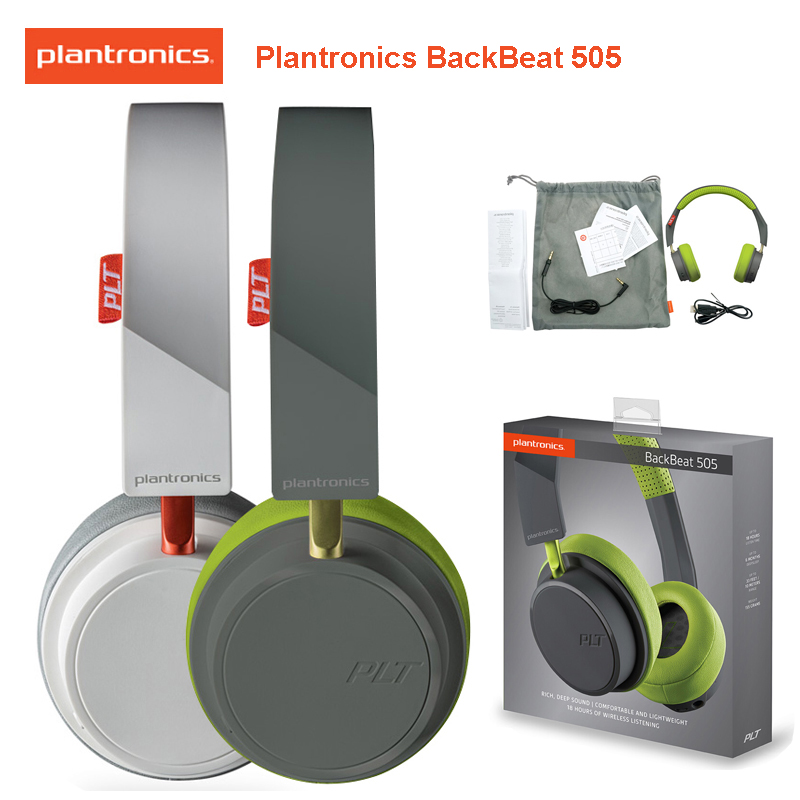 Plantronics Backbeat 505 Wireless Headphones Bluetooth4 1 Easy On Ear Controls Immersive Audio Headset For Huawei Xiaomi Samsung Bluetooth Earphones Headphones Aliexpress