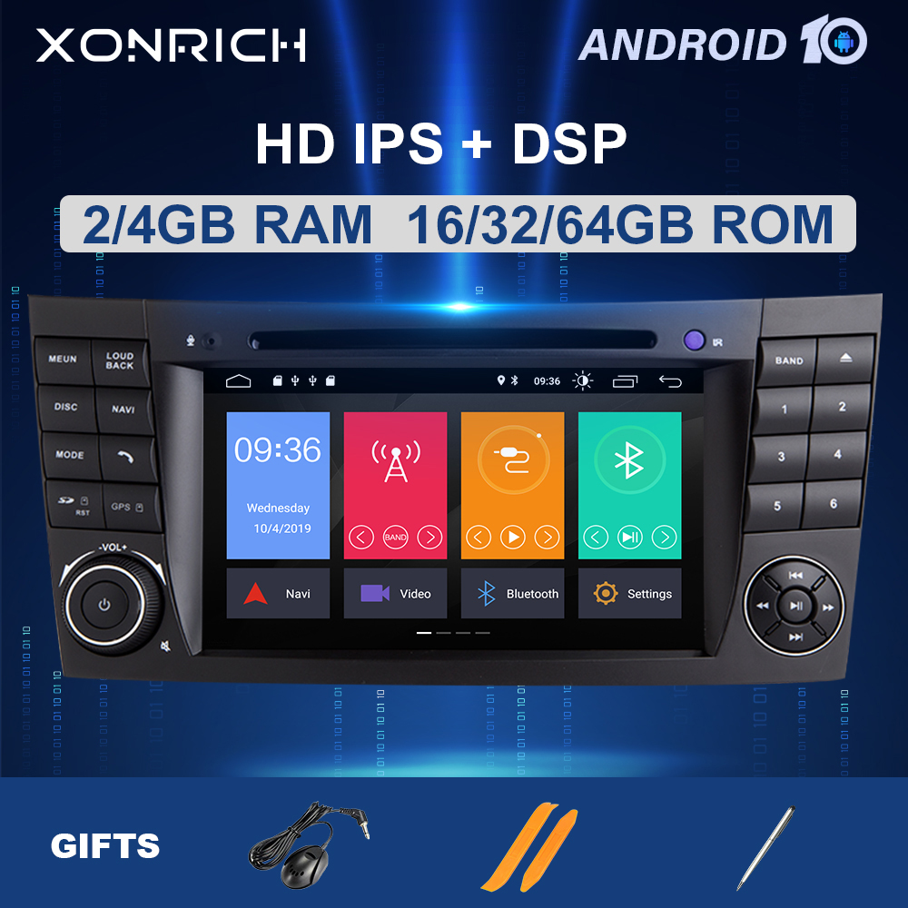 2 din Android 10 Car DVD Multimedia For <font><b>Mercedes</b></font> Benz E-class <font><b>W211</b></font> E200 E220 E300E350 E240E280 CLS CLASS W219GPS Radio Audio DSP image