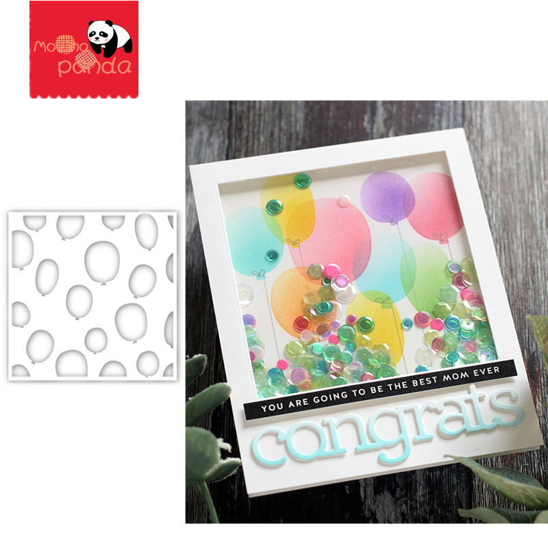 Balloon FLOWER Stencil Stamp Stencil For Metal Cutting Dies And Stamps Painting Stencil Template Scrapbooking DIY Crafts Paper