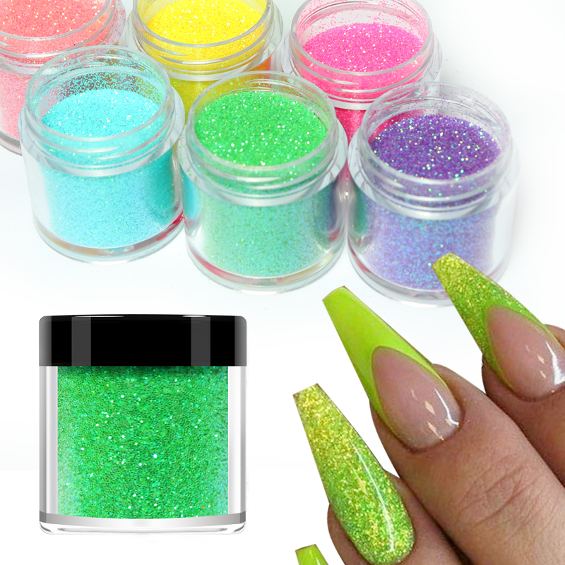 5g Nail Art Glitter Powder Colorful Pigment Chrome Shiny Sequins Nails Decoration Sugar Dust Dipping UV Gel Polish Manicure Tips