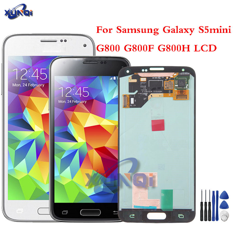 For <font><b>Samsung</b></font> Galaxy s5mini New Super LCD S5 Mini G800 <font><b>G800F</b></font> G800H <font><b>Display</b></font> 100% Tested Working Touch Screen Assembly image