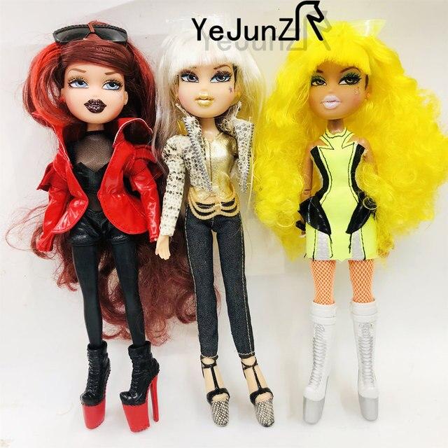 Originale Moda Bombhead Pazzo girll Action Figure bambola Bianco rosso verde cambiamento dei capelli BratzDoll Magic girl ed i Bei vestiti della bambola best Regalo
