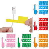 Etiquetas de Cable para impresora láser, organizadores de etiquetas autoadhesivas A4, a prueba de agua, Red de marcado de alambre, 150 Uds.