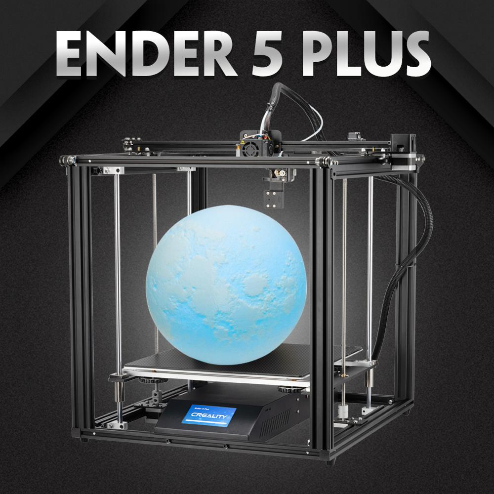 Creality 3D Ender-5 Plus 3D Printer 350*350*400mm Large Build Volume with 4.3 Inch Touchscreen Removable Tempered Glass Plate