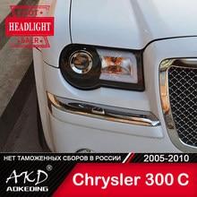 Dla samochodów Chrysler 300C lampa czołowa 2005-2010 300 C akcesoria samochodowe światła przeciwmgielne światła do jazdy dziennej DRL H7 LED Bi Xenon żarówki reflektory