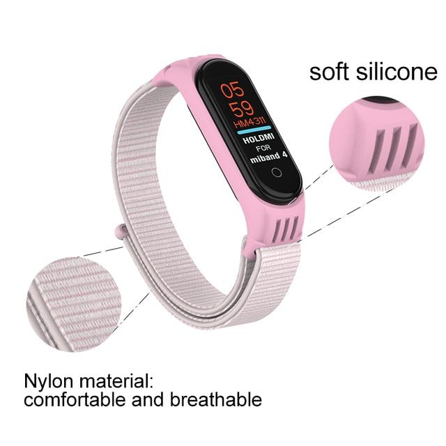 Replaceable Nylon Bracelet For Xiaomi Mi Band 3 4 Strap Nylon silicone Sport Wristband For Mi band 3 Band 4 Smart Watch Strap 2