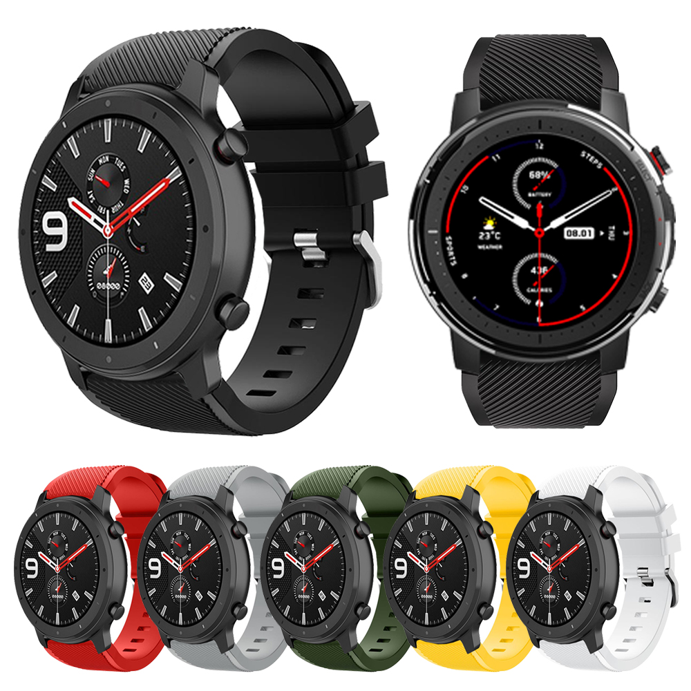 For Huami Amazfit GTR 47mm / Pace Stratos 3 2 2S Silicone Band For Samsung Galaxy Watch 46mm Gear S3 Wrist Strap Watchband 22mm