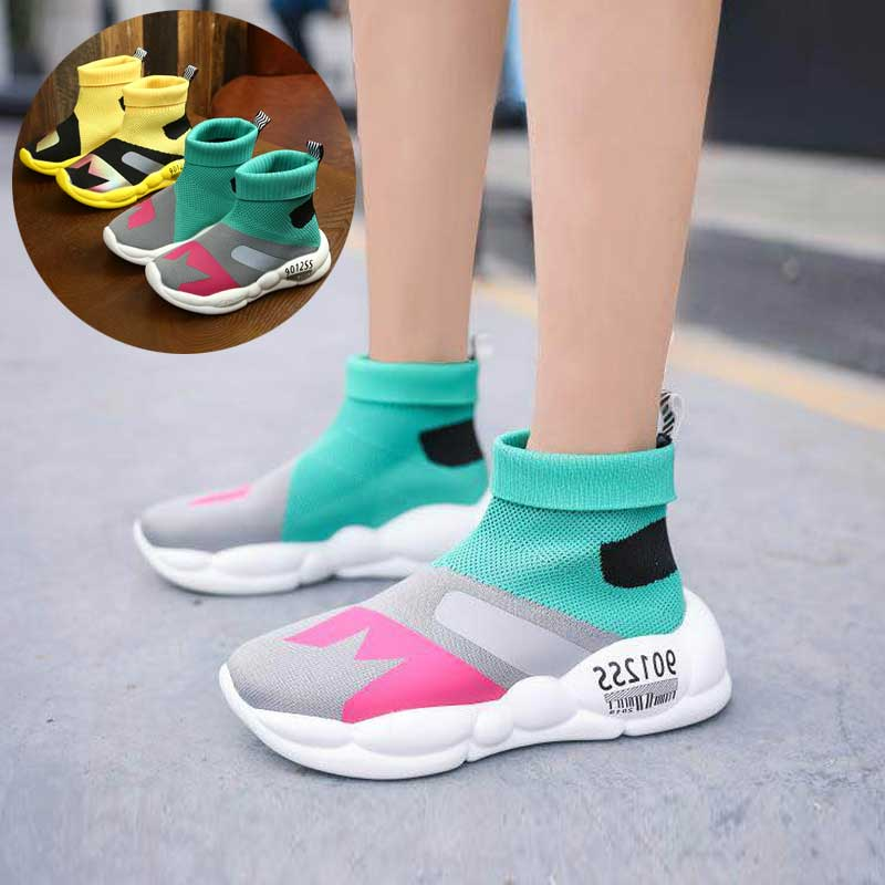 Unisex Casual Shoe Boys Fashion Sport Runing Shoes Kids Student School Sock Shoes Girls Footwear Autumn #7