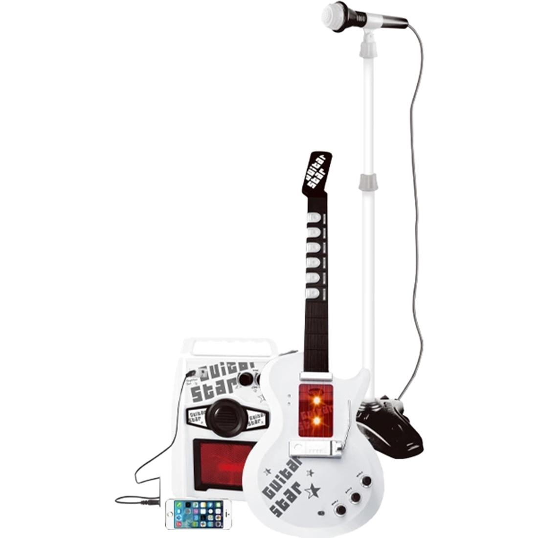 Crianças brinquedo musical eletrônico infravermelho guitarra elétrica