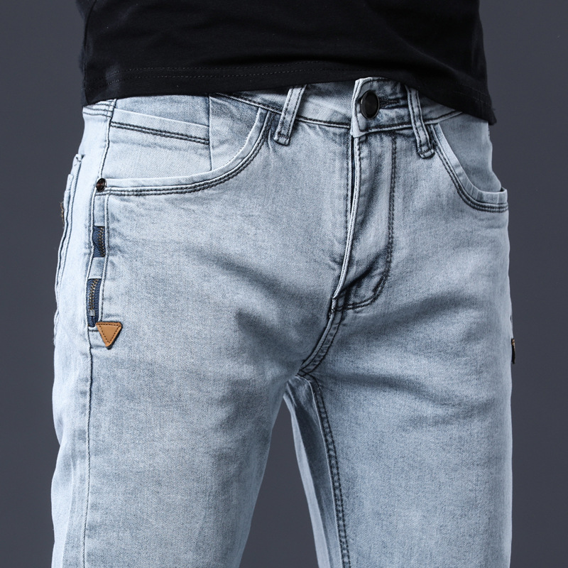 ICPANS Skinny Denim Jeans Men Slim Fit Stretch Mens Jeans Pant Gray Blue 2020 New