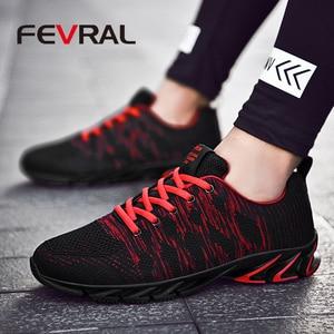 Image 5 - FEVRAL ماركة 2020 الصيف تنفس الرجال أحذية رياضية الكبار أحمر أزرق أخضر جودة عالية مريحة عدم الانزلاق لينة حذاء رجالي