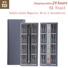 Youpin ежедневное использование Набор отверток 42 прецизионные двухсторонние магнитные биты коробка AL отвертка умный дом набор