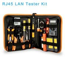 RJ45 LAN тестер сетевой набор инструментов для ремонта RJ45 RJ11 RJ12 сетевой кабель трекер плоскогубцы Обжимные Щипцы штекер зажим ПК Прямая поставка