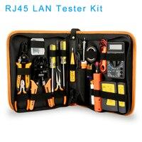 RJ45 LAN Tester Networking Repair Tool Kit RJ45 RJ11 RJ12 Network Cable Tracker Plier Crimp Crimper Plug Clamp PC Drop Shipping
