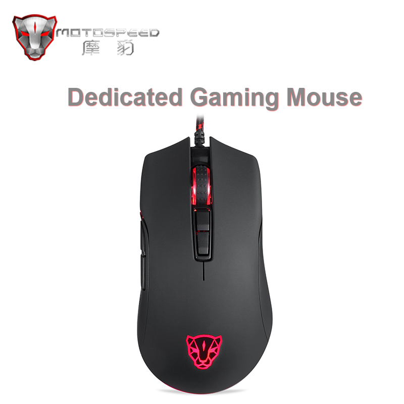 Motospeed V70 Gaming Mouse USB Wired PMW6400 6400 PMW3360 12000 DPI mouse RGB Multi-Color Breath Backlight for Computer gamer image