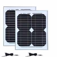 Kit de Acampamento Solar 20w Painel Solar Rv 10w 18v 2 Pcs Cabo DC Carregador Solar 12v bateria de carro Luz Do Carro de Acampamento Caravana Motorhome