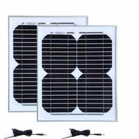 Solar Camping Kit 20w Rv Solar Panel 10w 18v 2 Pcs DC Cable Solar Charger 12v Car Battery Caravan Camp Car Light Motorhomes
