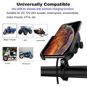 Image 3 - ACCNIC 7.5W 10W Wireless Charger รถจักรยานยนต์โทรศัพท์มือถือสำหรับ iPhone 8 X XR XS MAX สำหรับ Samsung S10 + S10E S9 + (USB)