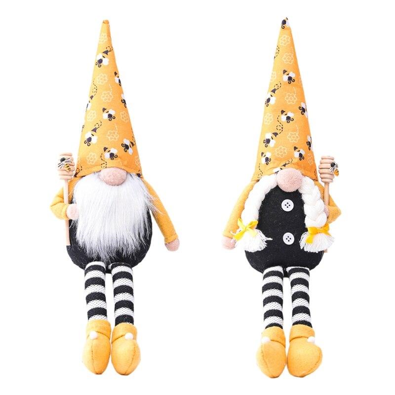 Bahar paskalya Bumble Bee Gnome Tomte Nisse İsveç Elf ev çiftlik evi mutfak dekoru raf katmanlı tepsi süslemeleri