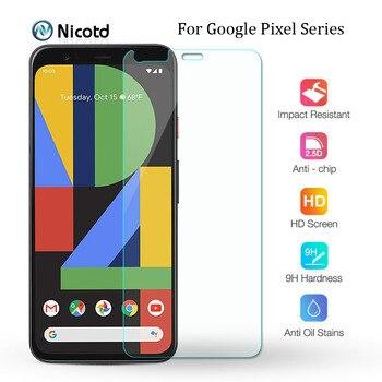 Перейти на Алиэкспресс и купить Закаленное стекло 9H для Google Pixel 4 3 3a 2, защитная пленка для экрана Google Pixel 4 XL 3a XL 2 XL HD, защитное стекло