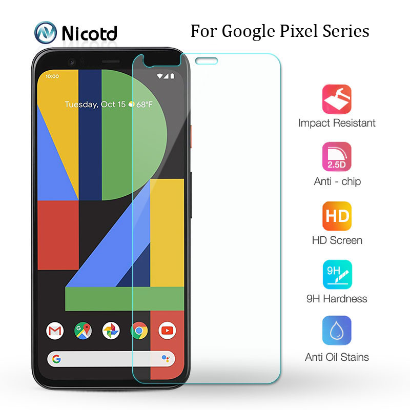 9H Premium Tempered Glass For Google Pixel 4 3 3a 2 Screen Protector Film For Google Pixel 4 XL 3a XL 2 XL HD Protective Glass image