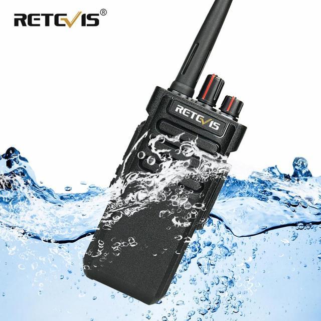 IP67 Waterproof Walkie Talkie RETEVIS RT29 10W UHF (or VHF) VOX Long Range Two-way Radio Station for Factory Farm Warehouse 3KM 1