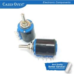 2 шт./лот WXD3-13-2W 220 Ом WXD3-13 2 Вт Электрический поворотный сбоку Ротари многооборотный проволочный потенциометр в наличии