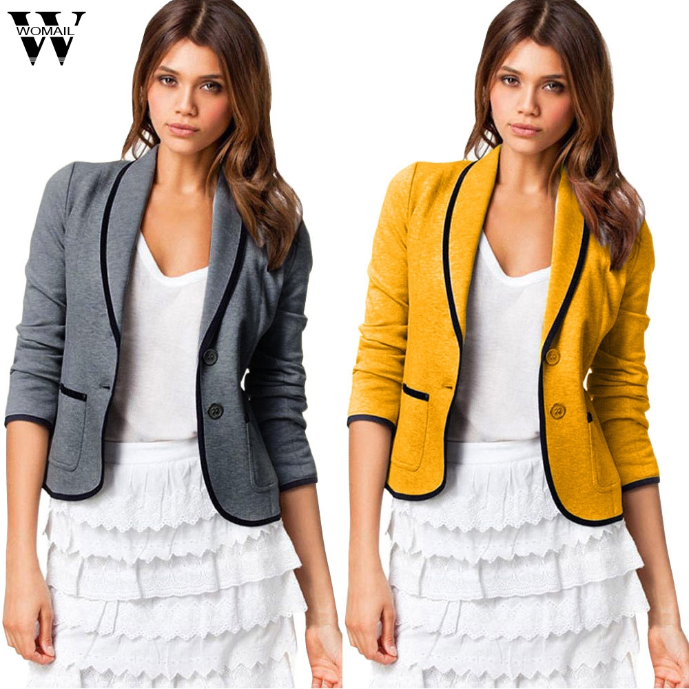 Womail Womens Coats Women Office Lady Coat Blazer Suit Long Sleeve Tops Slim Jacket Outwear Coat women 2020 S-5XL